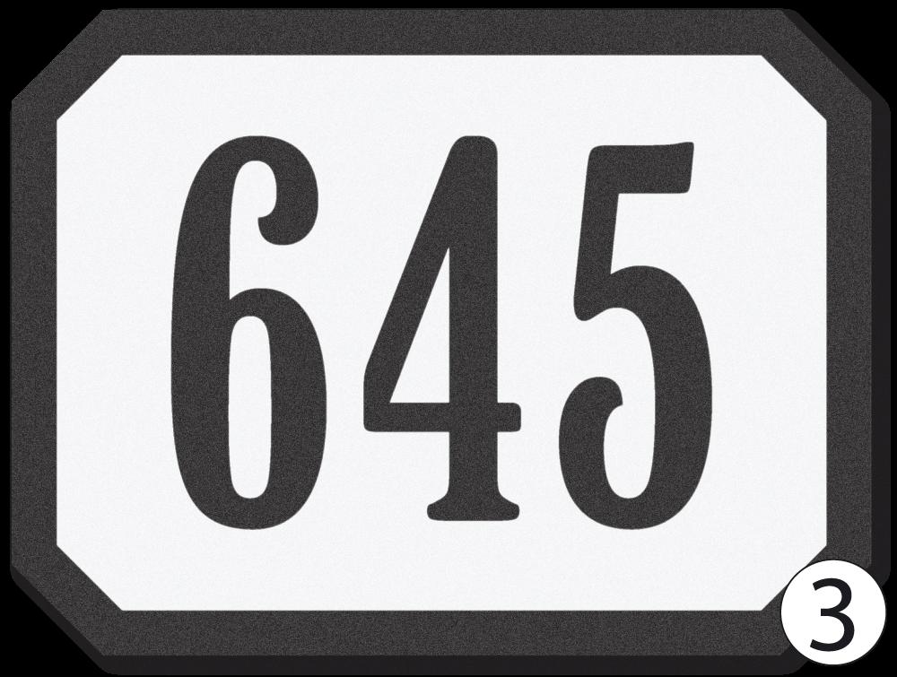 Domovní číslo - historické provedení.