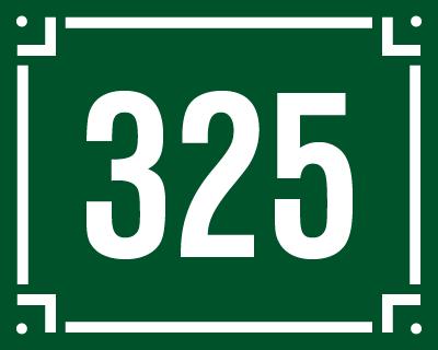 Číslo s hranatým děleným rámečkem.