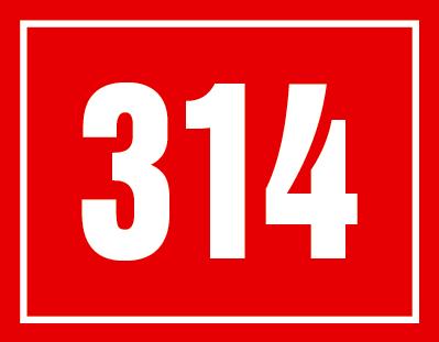 Číslo s hranatým rámečkem.