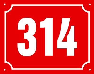 Číslo s vykrojeným rámečkem.