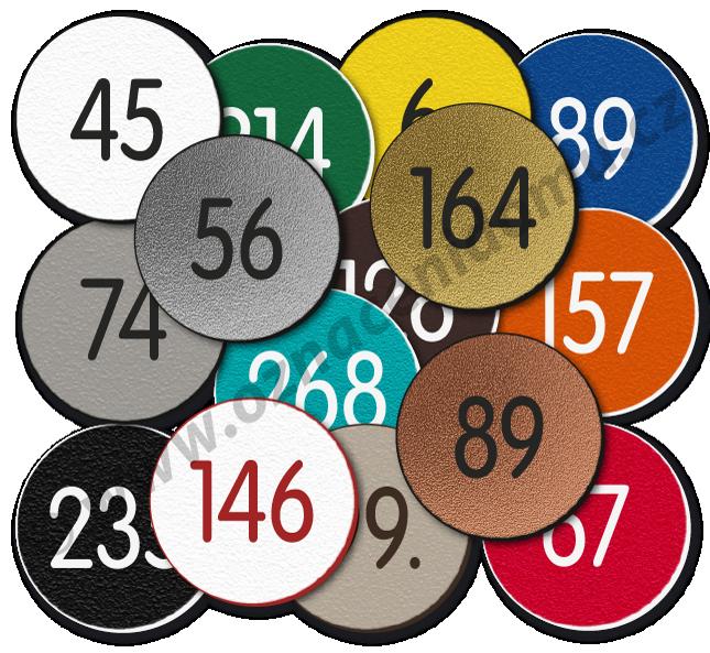 Štítek TVRZENÝ ∅ 25 nebo ∅ 35 mm, tl. 1,6 mm