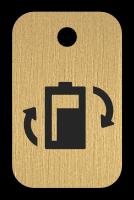 Klíčenka s obrázkem baterie