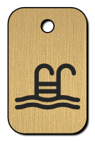 Klíčenka s obrázkem bazén