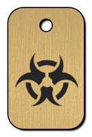 Klíčenka s obrázkem biohazardu