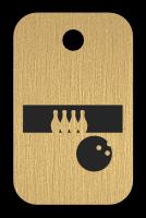 Klíčenka s obrázkem bowlingu