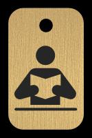 Klíčenka s obrázkem čítarny