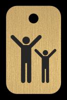 Klíčenka s obrázkem cvičenců