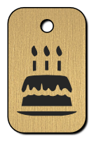 Klíčenka s obrázkem dortu