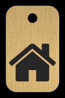Klíčenka s obrázkem domu
