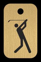 Klíčenka s obrázkem golfu