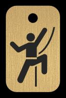 Klíčenka s obrázkem horolezce