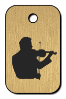 Klíčenka s obrázkem houslisty