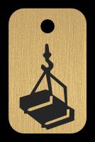 Klíčenka s obrázkem jeřábu