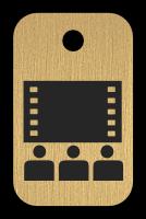 Klíčenka s obrázkem kina