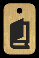 Klíčenka s obrázkem knihy