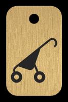 Klíčenka s obrázkem kočárku