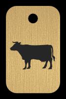 Klíčenka s obrázkem krávy