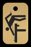 Klíčenka s obrázkem kulečníku