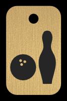 Klíčenka s obrázkem kuželky a koule