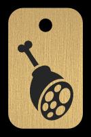 Klíčenka s obrázkem kýty