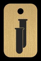 Klíčenka s obrázkem zkumavka