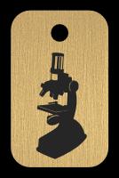 Klíčenka s obrázkem mikroskopu
