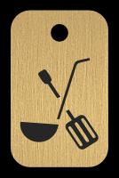 Klíčenka s obrázkem nádobí