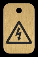 Klíčenka s obrázkem nebezpečí úrazu elektrickým proudem