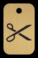 Klíčenka s obrázkem nůžek