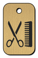 Klíčenka - nůžky a hřeben