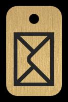 Klíčenka s obrázkem obálky