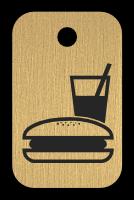 Klíčenka s obrázkem jídla