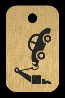 Klíčenka s obrázkem odtahovky