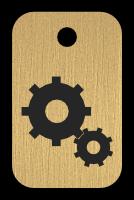 Klíčenka s obrázkem ozubených kol