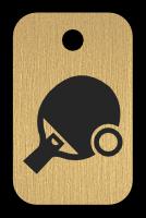 Klíčenka s obrázkem pálky