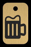 Klíčenka s obrázkem piva