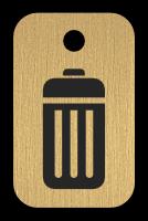Klíčenka s obrázkem popelnice