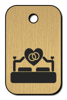Klíčenka s obrázkem postele