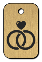 Klíčenka s obrázkem prstýnků