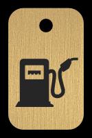 Klíčenka s obrázkem benzínové pumpy