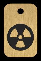 Klíčenka s obrázkem radiace