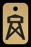 Klíčenka s obrázkem rozhledny