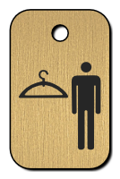 Klíčenka s obrázkem šatny