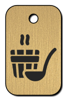 Klíčenka s obrázkem sauny