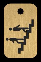 Klíčenka s obrázkem schodů