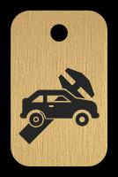 Klíčenka s obrázkem autoservisu