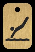 Klíčenka s obrázkem skokana