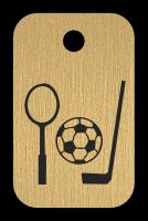 Klíčenka s obrázkem sportovního nářadí