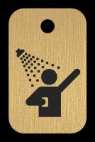 Klíčenka s obrázkem sprchy
