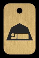 Klíčenka s obrázkem stanu